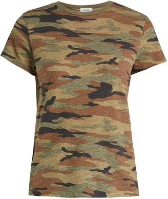 Hanes RE/DONE ORIGINALS X camouflage-print T-shirt