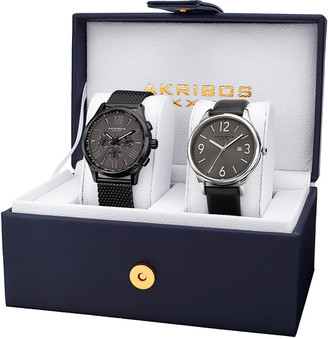 Akribos XXIV Men's Set Of 2 Watches