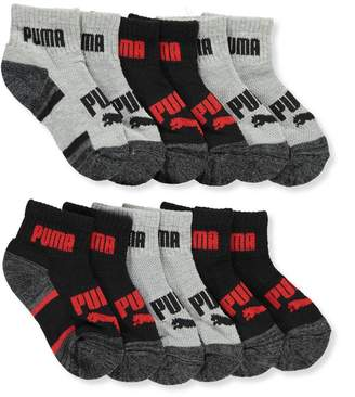 Puma Boys' 6-Pack Quarter Crew Socks
