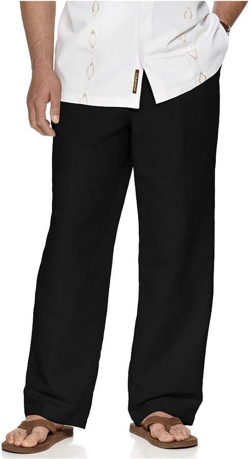 "Cubavera Big and Tall Drawstring Linen-Blend 32"" Length Pants"