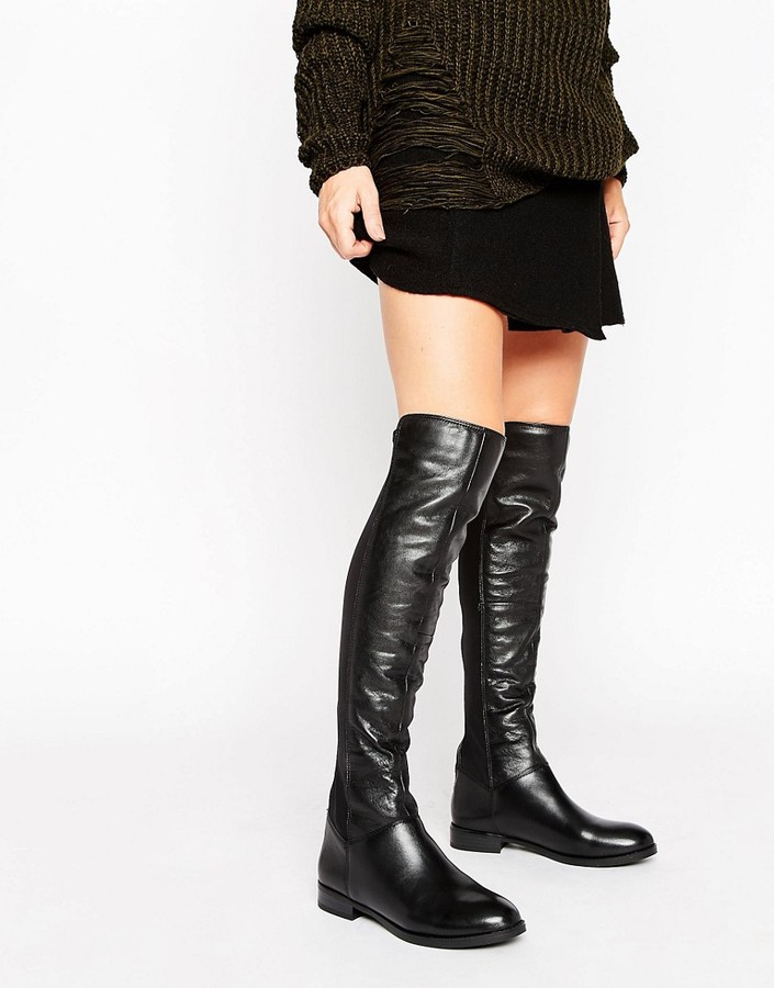 Aldo ALDO Josepa Zip Leather Knee boots