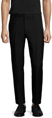 Givenchy Solid Wool Flat Front Trouser