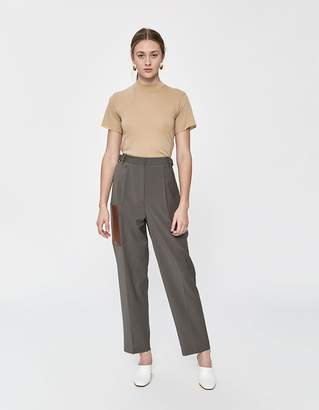Tibi Tablier Plain Weave Straight Leg Pant