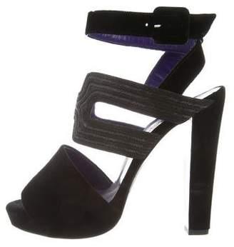 Hermes Byzance Velvet Sandals