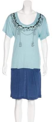 See by Chloe Short Sleeve Knee-Length Dress