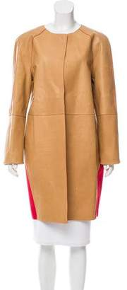 Fendi Wool Trim Leather Jacket w/ Tags