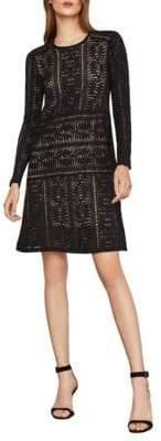 BCBGMAXAZRIA Waving Vines Lace A-Line Dress