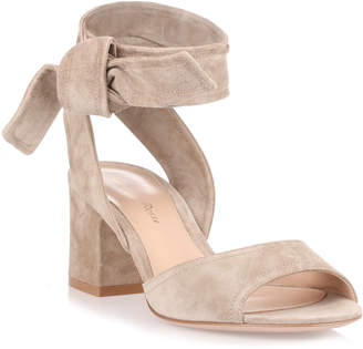 Gianvito Rossi Nika 60 light sand suede sandal