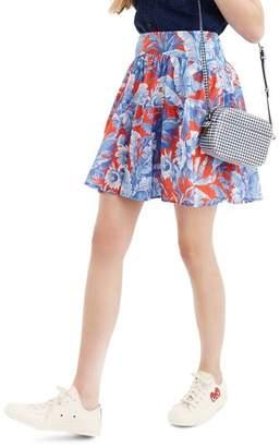 J.Crew J. CREW Ratti(R) Rio Floral Tiered Miniskirt