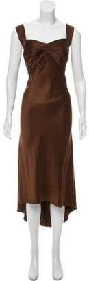 Carmen Marc Valvo Sleeveless Satin Dress