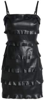 Bailey 44 Ruffled Faux Leather Mini Dress