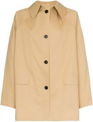 Kassl button down trench coat