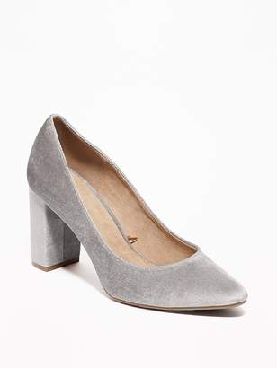 Old Navy Velvet Block-Heel Pumps for Women