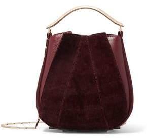 Eddie Borgo Pepper Pochette Mini Velvet And Leather Bucket Bag