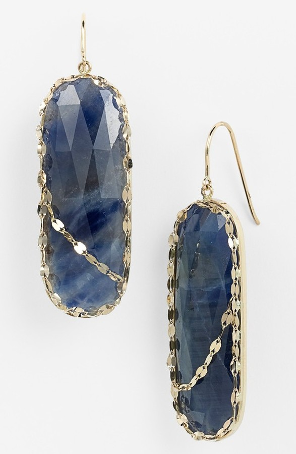 Lana 'Stone Gold' Sapphire Drop Earrings