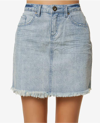 O'Neill Juniors' Jasmine Cotton Denim Mini Skirt