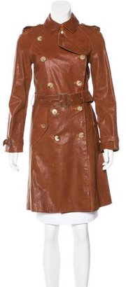 Burberry London Leather Trench Coat $995 thestylecure.com