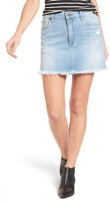 BP Distressed Denim Miniskirt