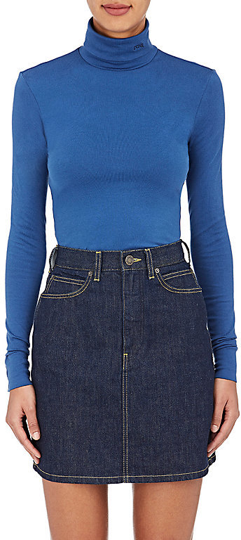 CALVIN KLEIN 205W39NYC Women's Cotton-Blend Turtleneck Top