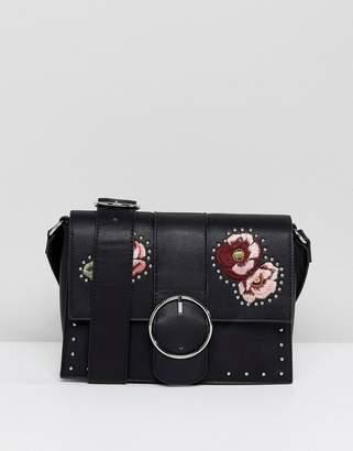 Stradivarius Embroidered Cross Body Bag