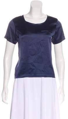 Proenza Schouler Short Sleeve Silk Top