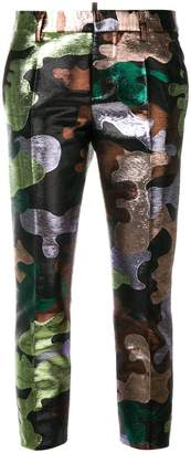 DSQUARED2 metallic camouflage trousers