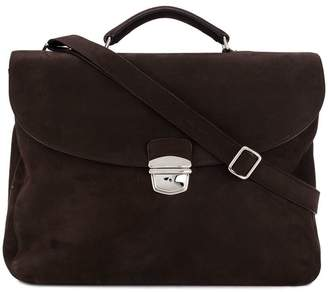 Orciani foldover flap briefcase
