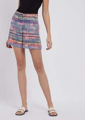 Emporio Armani Multicolor Tweed Shorts