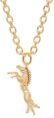 Chloé Horse Charm Necklace - Womens - Gold