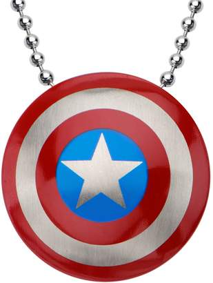 Marvel Comics Marvel Stainless Steel Captain America Logo Pendant w/ Chain