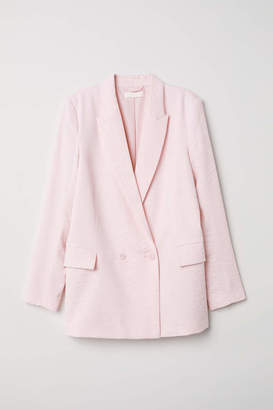 H&M Double-breasted Jacket - Light pink - Women