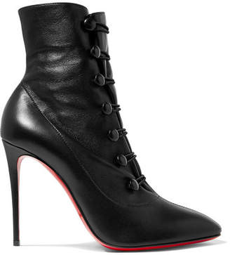 Christian Louboutin French Tutu 100 Leather Ankle Boots - Black