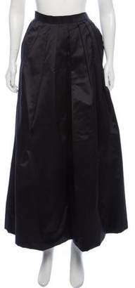 Oscar de la Renta Satin Maxi Skirt