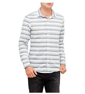 R & E RE: Striped Cotton Shirt