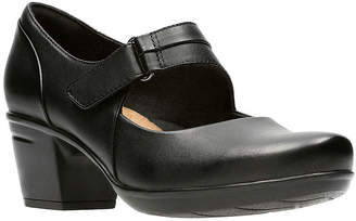 Clarks Emslie Lulin Womens Mary Jane Shoes Hook and Loop Closed Toe