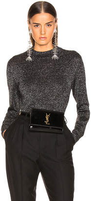 Saint Laurent Lurex Crewneck Sweater