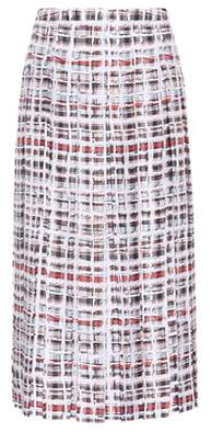 Burberry Scribble Check silk midi skirt