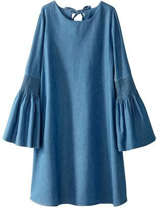 La Redoute COLLECTIONS Cotton Dress with Peplum Sleeves