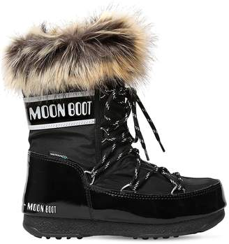Moon Boot Low Monaco Nylon & Faux Leather Boots