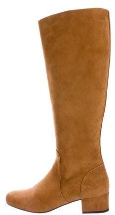 Saint LaurentSaint Laurent Suede Knee-High Boots