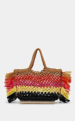 Altuzarra Women's Espadrille Small Raffia Tote Bag - Orange