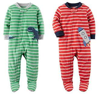 Carter's Baby Clothing Baby Toddler Boys 2 Pack Fleece Footed Pajama Sleep and Play Set