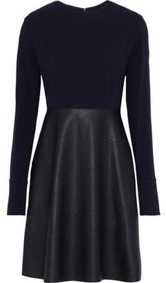 Stella McCartney Crepe And Faux Textured-leather Dress