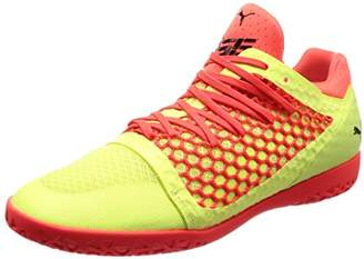 Puma Men's 365 Netfit CT Footbal Shoes, Fizzy Yellow-Red Blast Black