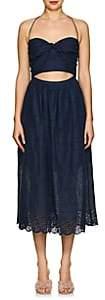 Zimmermann Women's Iris Linen Eyelet Picnic Dress - Navy