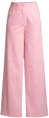 Tibi Demi Garment Washed Crop Jeans
