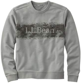 L.L. Bean L.L.Bean Men's Bean's Essential Crewneck Sweatshirt, Graphic Camo Logo