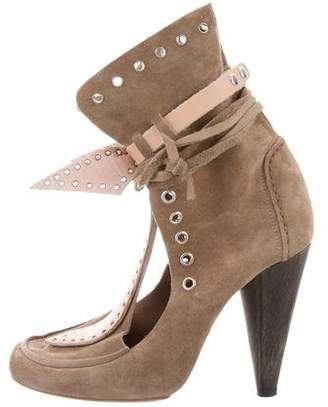 Isabel Marant Bow-Tie Grommet Ankle Boots