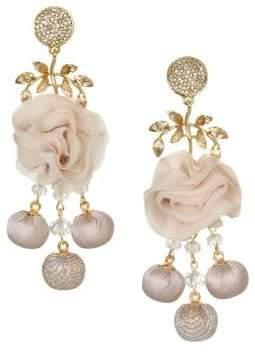 Badgley Mischka 10K Gold & Crystal-Embellished Drop Earrings