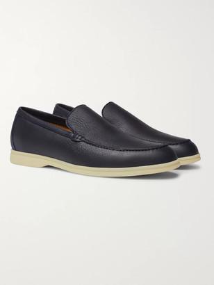 Loro Piana Summer Walk Full-Grain Leather Loafers